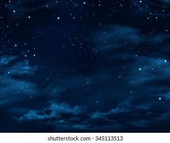 night sky, starry background