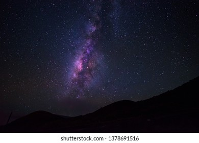 Night Sky Stars Landscape Astronomy Milky Way Dark Galaxy Nature