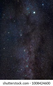 Night sky with stars and part of the Milky Way