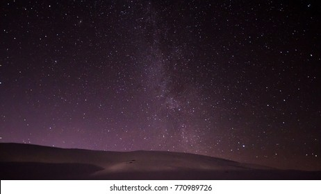 Night sky at Vikafjell in Norway