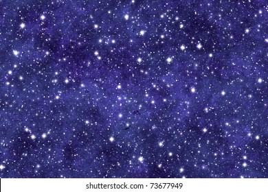 Night sky wallpaper with many stars and dreamy effect.