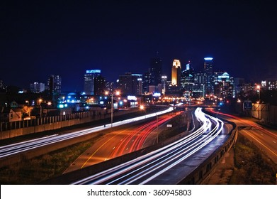 Night Skyline of Minneapolis