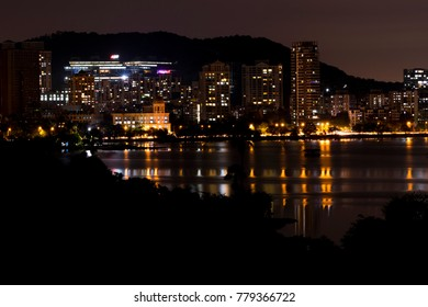 Night Skyline Mumbai, Maharashtra, India - October 9, 2017- A skyline view of the financial capital of India. October 9, 2017.