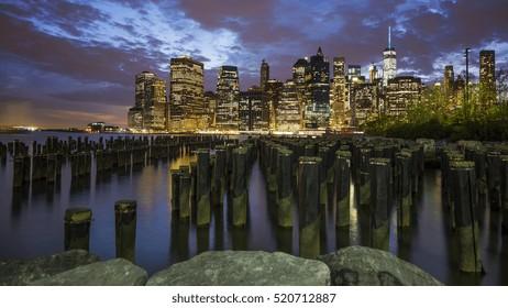 Night Skyline of New York City
