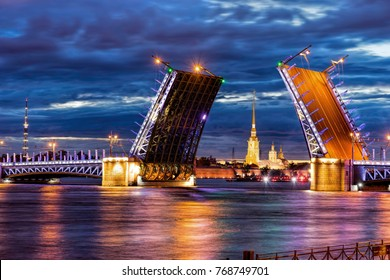 Night St. Petersburg white nights