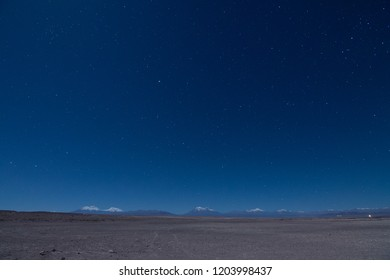 night starry in Andes Mountain