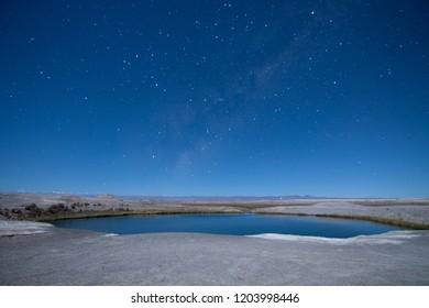 night starry in atacama desert