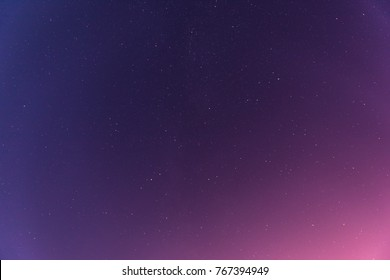 Night starry colorful sky as background.