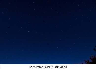 Night starry sky, constellations of big and small bear