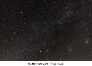 Night starry sky. Many stars. copy space