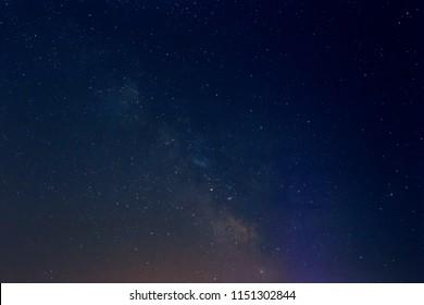 Night stars in the sky with milky way galaxy.