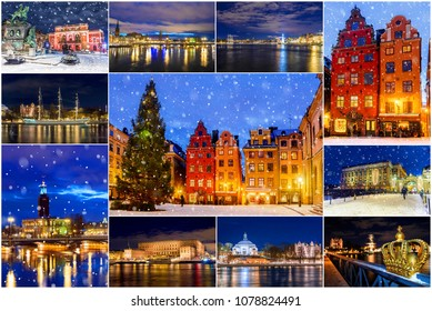 Night Stockholm. collage