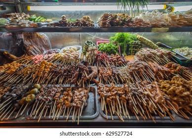 Night street food in Chinatown, Yangon, Myanmar