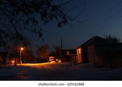 Night street. Lights