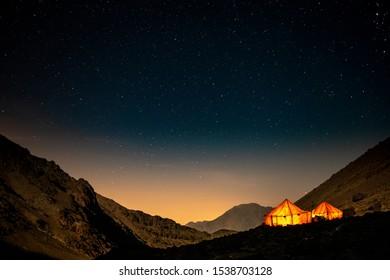 Night Time over Jebel Toubkal Base Camp