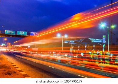 Night Time Rush Hour Traffic on Ikorodu Road, Lagos