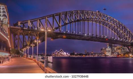 Night time at  Sydney harbour taken from Lunar park in February 2018