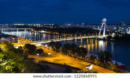 night-time-view-danube-river-450w-122086