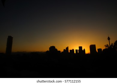 A night time view of Sydney skyline