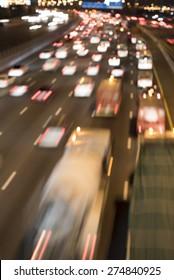 Night Traffic in Dubai