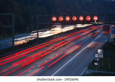 night traffic on german autobahn