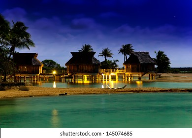 Night in tropics at the sea