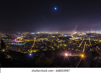 Night view of Athens