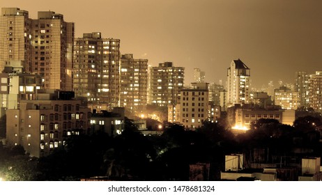 Night view of bandra city(Mumbai) , skycraper