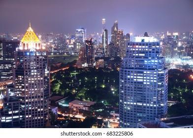 Night View of Bangkok, Thailand