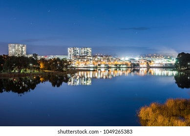 Night view of Belconnen Mall in Canberra