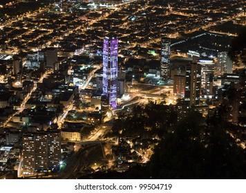 Night view of Bogota