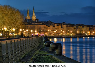 A night view of Bordeaux, France
