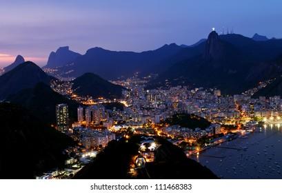 Night view of Botafogo in Rio de Janeiro