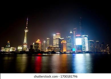 Night View of Bund (Waitan) Shanghai China 2017/11/04