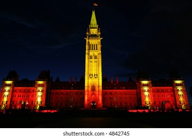 Night View of Canadian House of Parliament, Ottawa, Canada