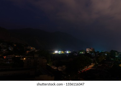 Night view of Caracas city during a national power outage, in March 2019