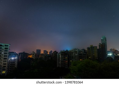 Night view of Caracas, Venezuela's capital, during a national power outage in march, 2019