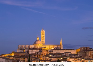 Night View Cathedral of Siena, Italy