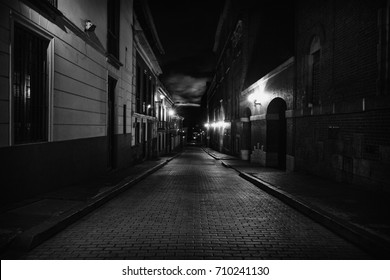 A night view of the center of bogota.