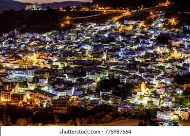 Night view of Chefchaouen