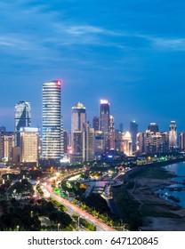 Night view of Chinese cities