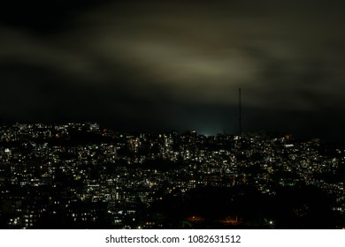 A night view of the city of Aizawl, Mizoram, India