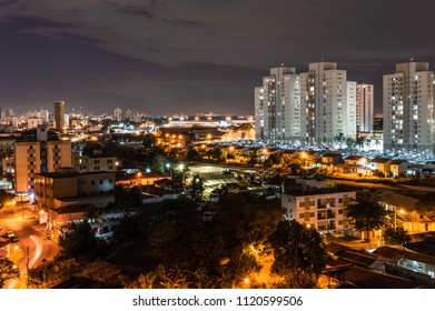 Night view of the city of Campinas, SP in Brazil