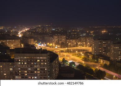 Night view of the city - Kaliningrad, Russia - August 28, 2016
