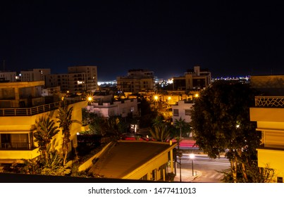 Night view of city landscape
