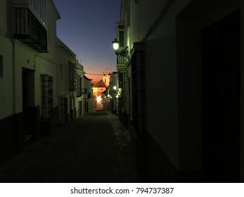 Night view of the city of Medina Sidonia in the Province of Cádiz