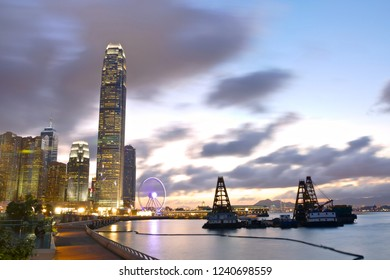 Night view of Cityscape of Victoria Harbour, Hong Kong