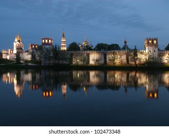 Night view of the Cloister of Moscow