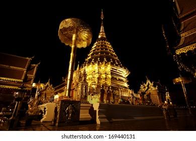 Night view Doi Suthep Chiang Mai
