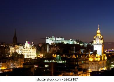 Night view of Edinburgh